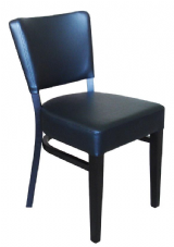 Burbank Wooden Side Chair with Upholstered Seat & Back
